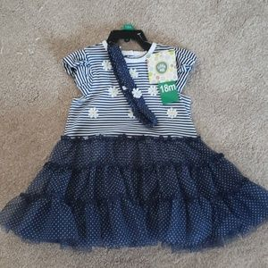 Fancy 18mo dress with petticoat and onesie BNWT